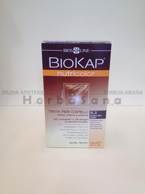 biokap farba za kosu 6 3 tamna zlatno plava