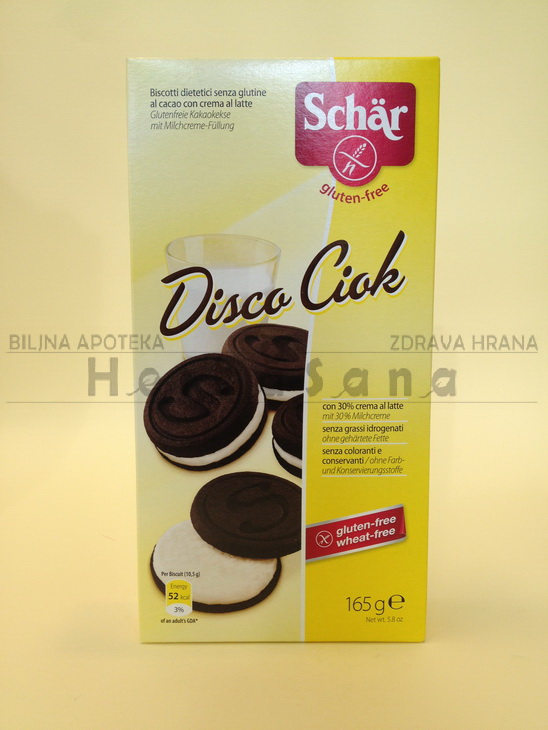 schar disco ciok biskvit sa mlecnim kremom bez glutena 165g