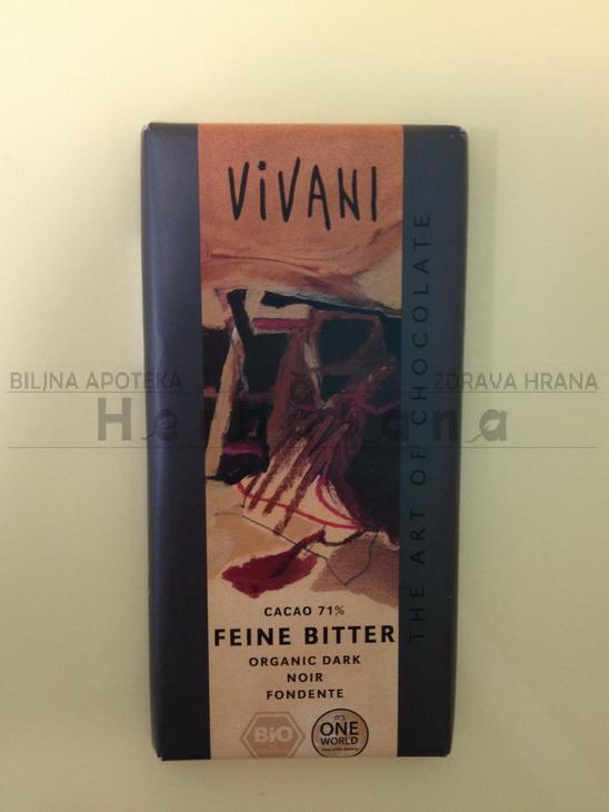 vivani crna čokolada 71 kakao 100g