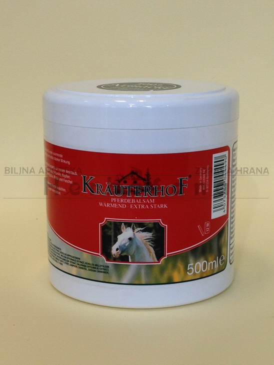 krauterhof konjski balzam sa efektom toplote ekstra jak 500ml