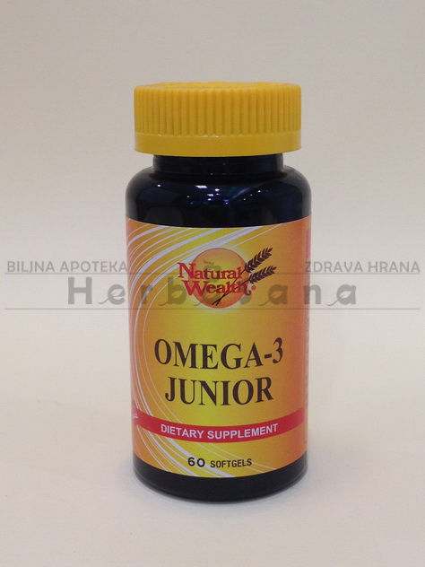 omega 3 junior 60 kapsula natural wealth