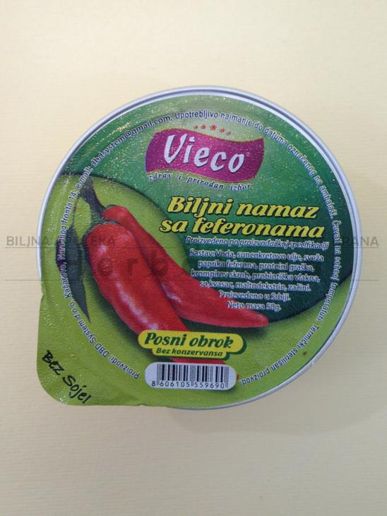 vieco biljna pašteta sa feferonama 50g