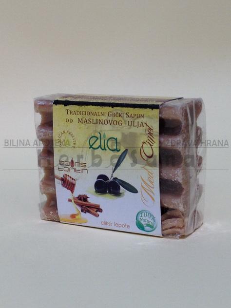 grcki sapun od maslinovog ulja sa medom i cimetom elia