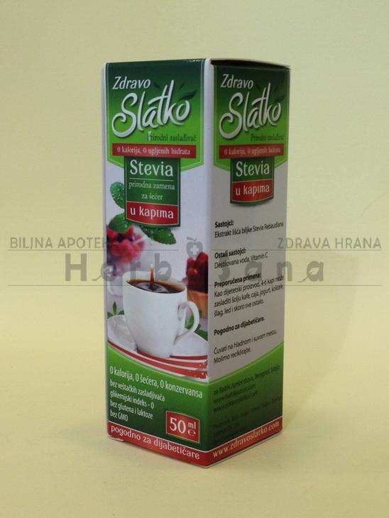 stevia kapi 50 ml zdravo slatko