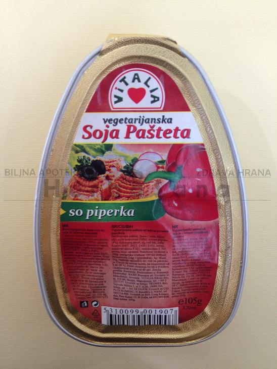 vegetarijanska sojina pašteta sa paprikom 105 gr vitalia