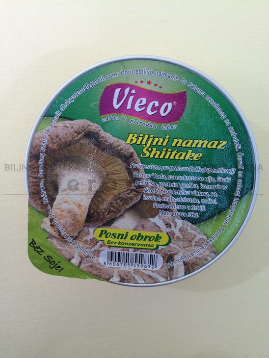 vieco biljna pašteta sa šitake shitake pečurkama 50g
