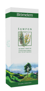 BIOMELEM Šampon trava Iva i bor 200ml organski