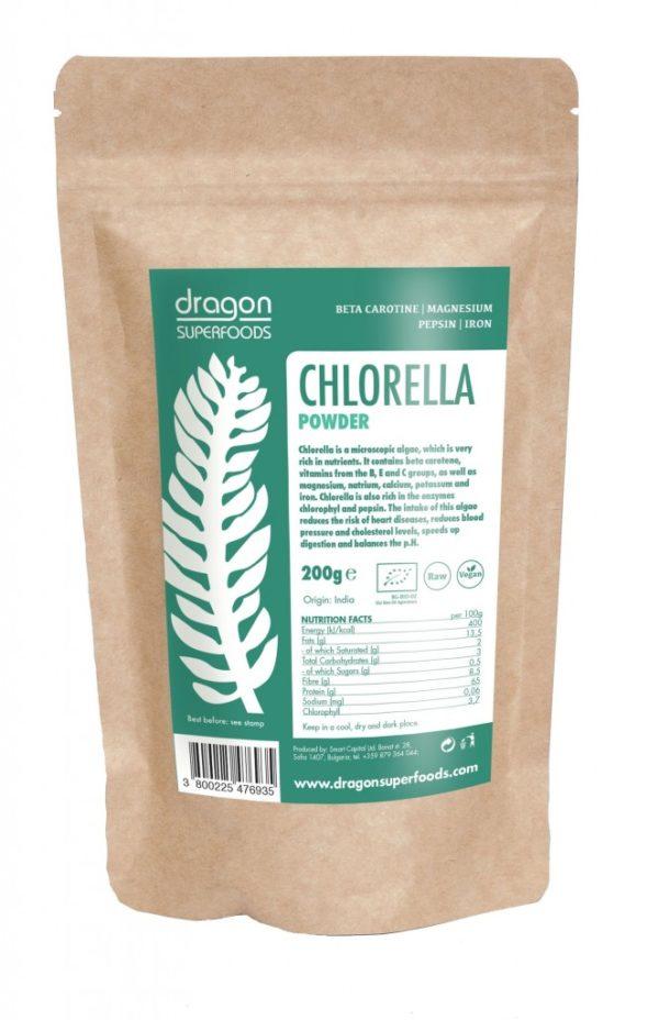chlorella prah 200g organski