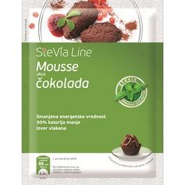 stevia line cokoladni mus 75g
