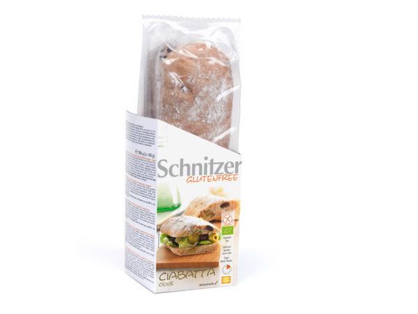 schnitzer bezglutenska ćabata sa maslinama bio