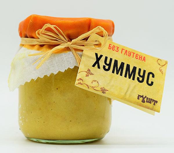 humus natural 180g bez glutena gust