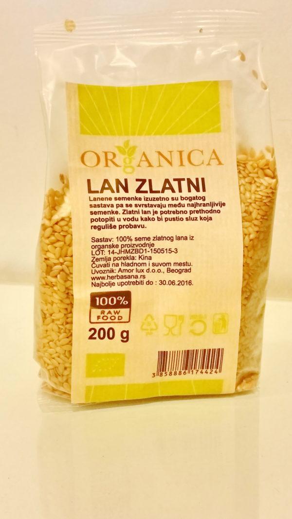 lan zlatni 200 gr organica organski proizvod
