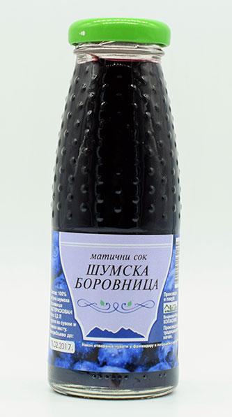 maticni sok od sumske borovnice 200ml