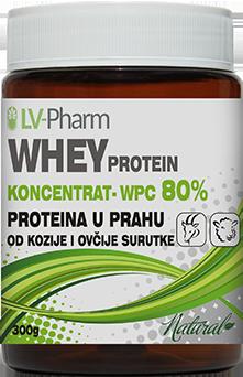 whey protein od kozje i ovcije surutke 80% koncentrat 300g