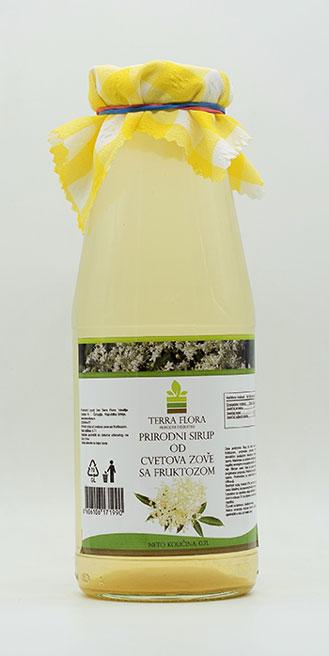 prirodni sirup od cvetova zove sa fruktozom 700ml