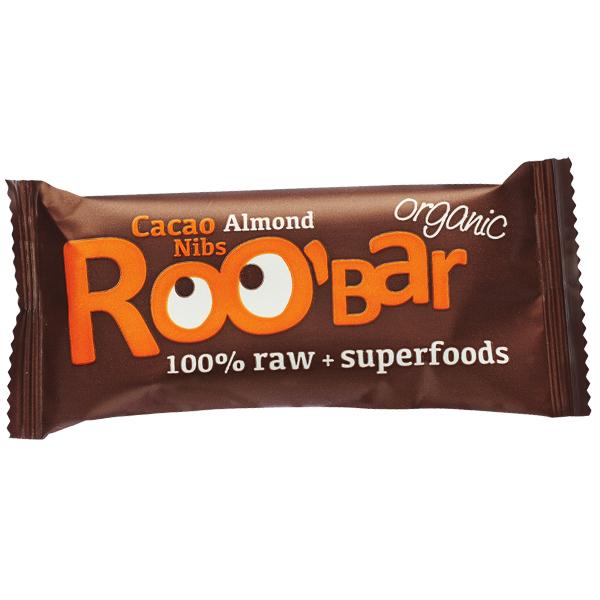 roobar stanglica kakao drobljeno zrno i badem 30g bez glutena