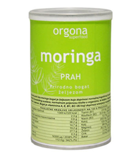 moringa prah 100g organski proizvod orgona