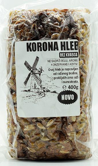korona hleb bez kvasca 400g unimiller