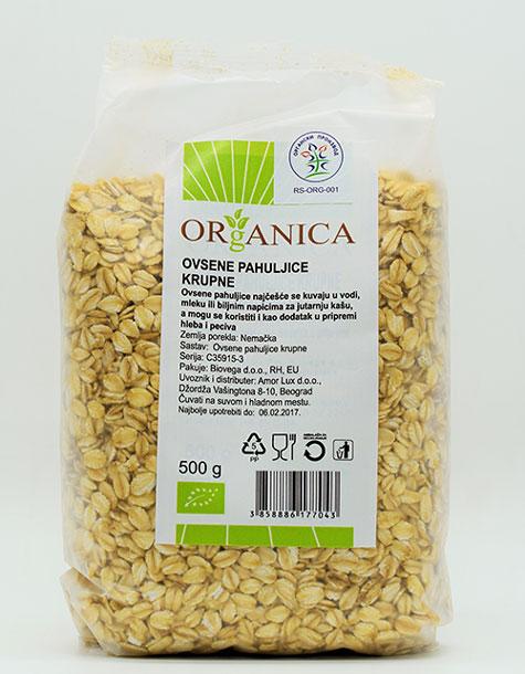 ovsene pahuljice krupne 500g organica organski proizvod