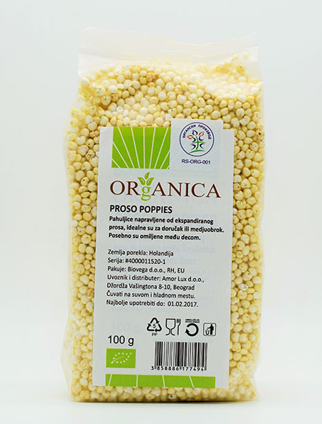 Proso poppies 100g Organica (organski proizvod)