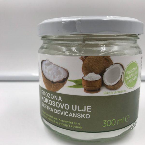 Kokosovo ulje Ekozona ekstra devičansko 300ml (organski proizvod)