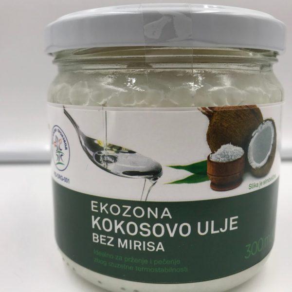 Kokosovo ulje bez mirisa Ekozona 300ml (organski proizvod)