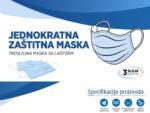 Troslojna zaštitna maska