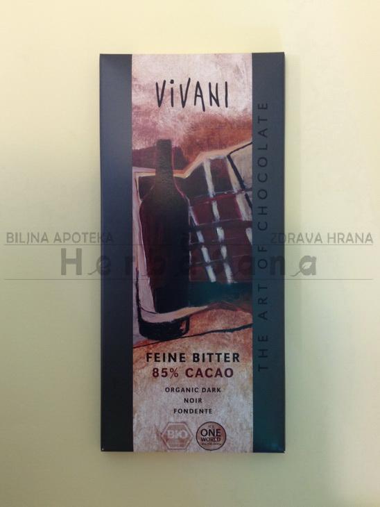 vivani crna cokolada 85 kakao 100g
