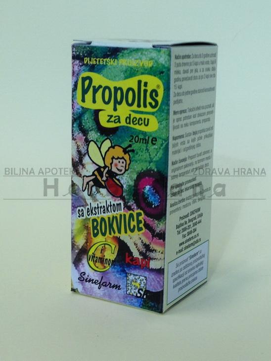 kapi propolis sa bokvicom za decu 20ml