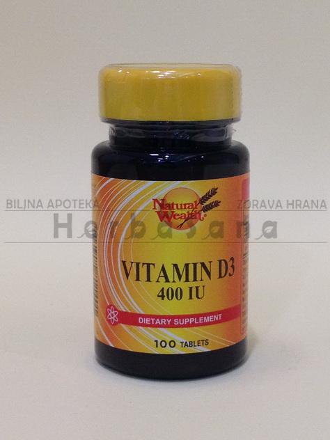 vitamin d3 400 ij 100 tableta