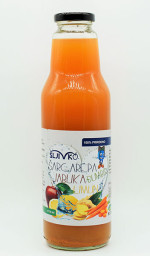 Kašasti voćni sok od šargarepe, jabuke, limuna i đumbira 750ml