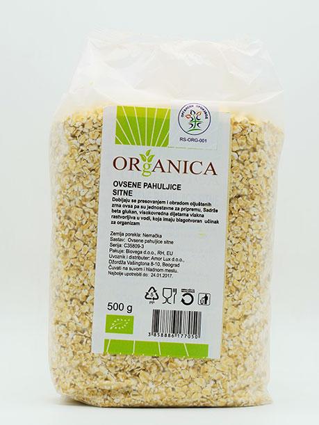 ovsene pahuljice sitne 500g organica organski proizvod
